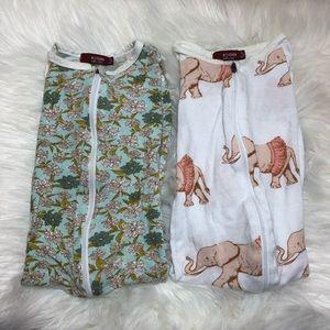 Milkbarn | Bamboo Cloth Footless Zip Pajamas 18-24